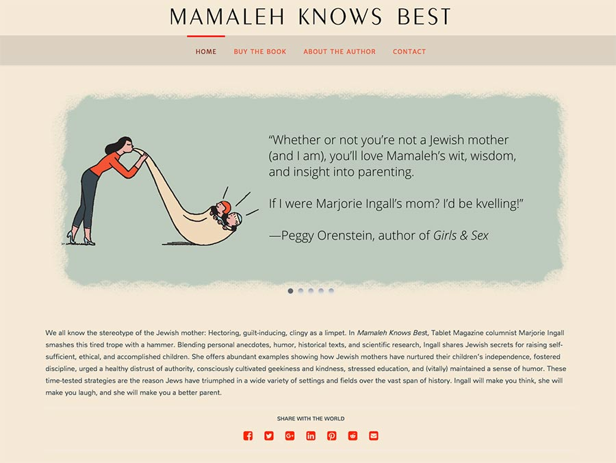 Mamaleh Knows Best home page