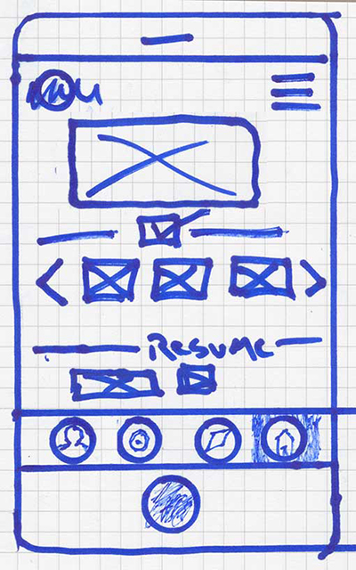 Home Screen Sketch